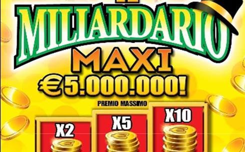 """Gratta e Vinci, la fortuna bacia la Campania: a Massa Lubrense (Napoli) realizzata una vincita da 5 milioni di euro con il biglietto """"Il Miliardario Maxi"""""""