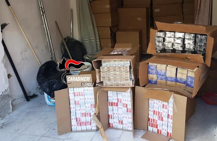 Cinque tonnellate di sigarette recuperate dai carabinieri nei pressi del casello autostradale di Tufino (Napoli), il carico era stato rubato sulla A14