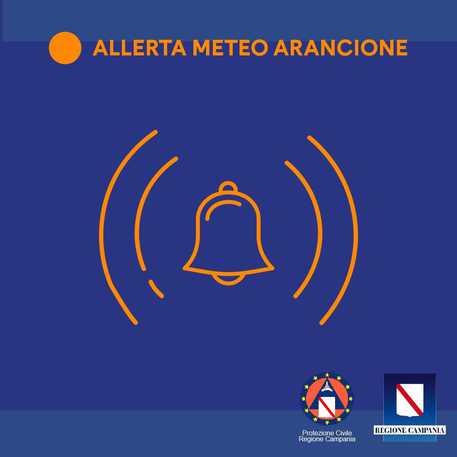 Allerta meteo della Protezione Civile in Campania, in arrivo forti piogge e temporali con vento forte e mareggiate