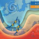 METEO: forte perturbazione tra giovedì e venerdì con pioggia, grandine e anche neve sulle Alpi. Brusco calo delle temperature