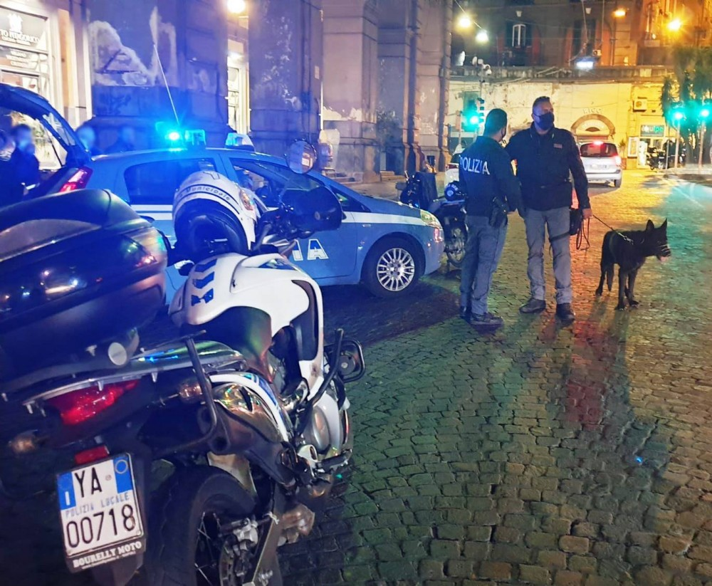 """Operazione """"Alto Impatto"""" della polizia a Napoli nella zona Materdei e in piazza Museo Nazionale, controllate vetture e motoveicoli, elevate sanzioni per oltre 25mila euro"""