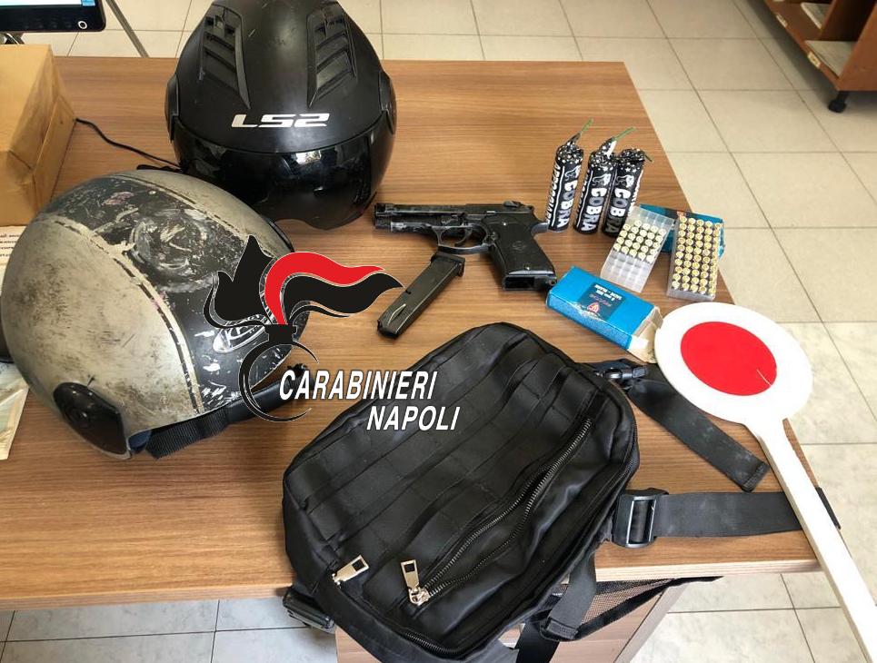 Due giovani rapinatori arrestati dai carabinieri, inseguiti da Trentola Ducenta (Caserta) fino a Varcaturo, avevano sottratto l'incasso ad un ristoratore